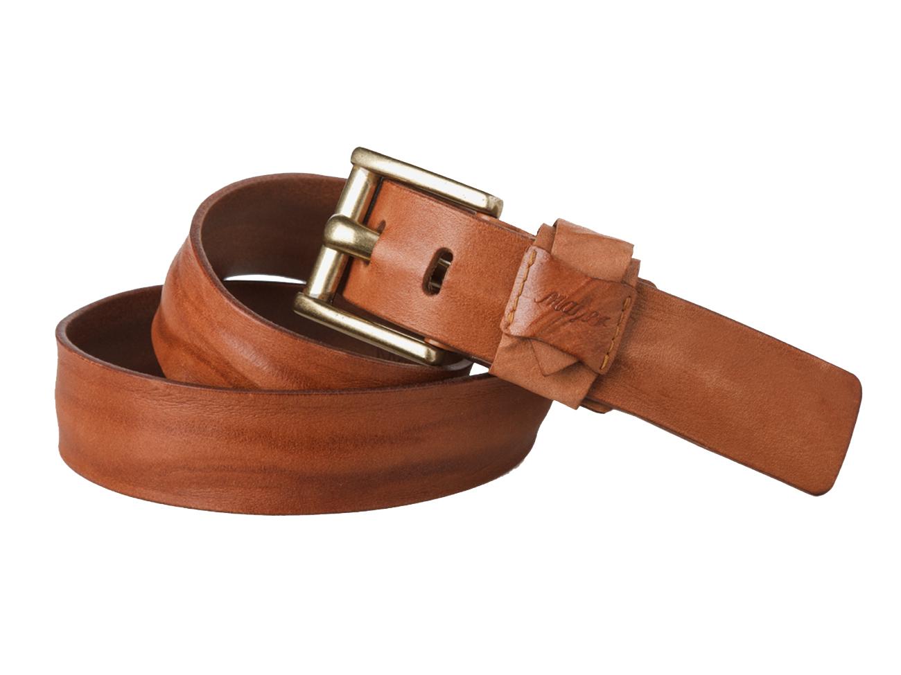 Женский джинсовый светло-коричневый ремень из кожи Mayer B 40-439