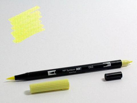 Маркер-кисть Tombow ABT Dual Brush Pen-062, бледно-желтый