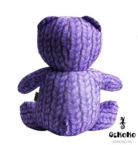 Подушка-игрушка антистресс Gekoko «МиниМишка Вязаный», фиолетовый 4