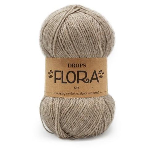 Пряжа Drops Flora 07 бежевый меланж