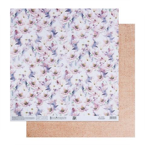 Бумага для скрапбукинга «Акварельный букет», 30.5 × 32 см, 180 гм