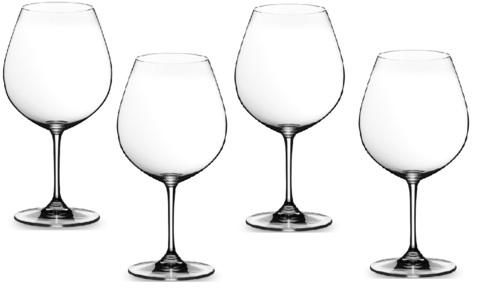 Набор из 4-х бокалов для вина Pinot Noir (Burgundy Red)  700 мл, артикул 5416/47 Burgundy . Серия Vinum