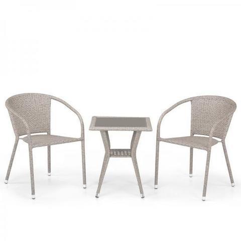 Комплект плетеной мебели T25C/Y137C-W85 Latte (2+1)