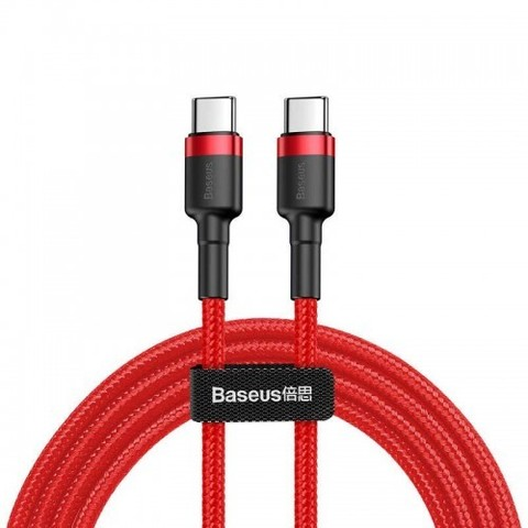Кабель Baseus Water Drop-shaped Lamp Type-C PD2.0 60W Flash Charge Data Cable 20V 3A 2m Red