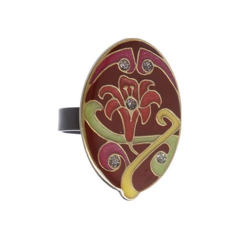 Кольцо лилия K77363 R