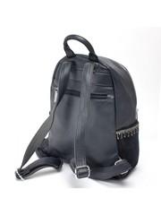 Синий рюкзак из комбинированной кожи