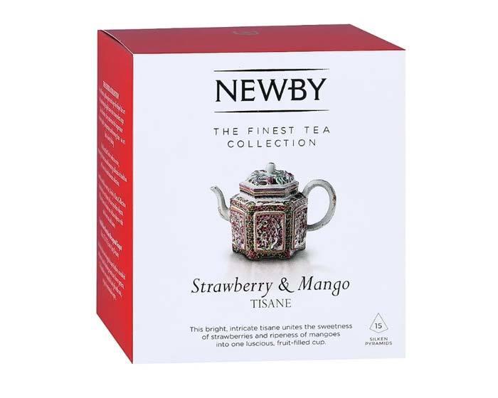 Чай травяной в пирамидках Newby Strawberry & Mango, 15 пак/уп