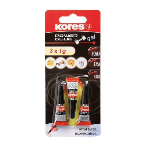 Клей универсальный KORES 1г ( 3 штуки в упаковке) 26344