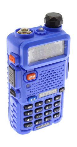 Рация Baofeng UV-5R синяя 8 Ватт
