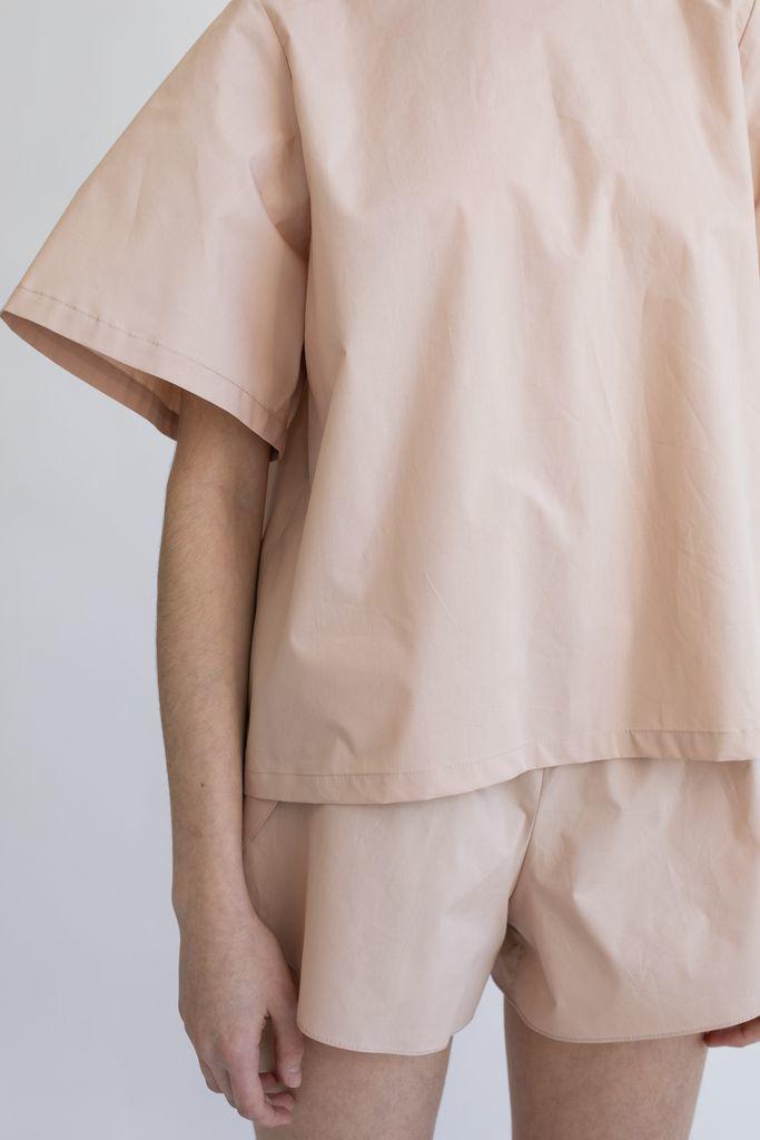 Бельевые шорты из хлопка бежевые