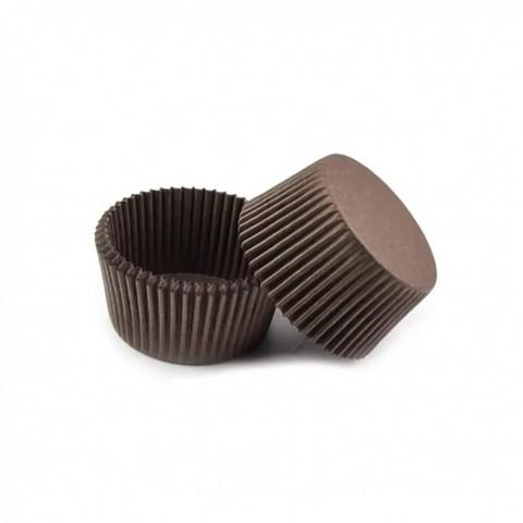 Капсулы для кейкпопсов и конфет коричневые 26х20мм.(40шт)