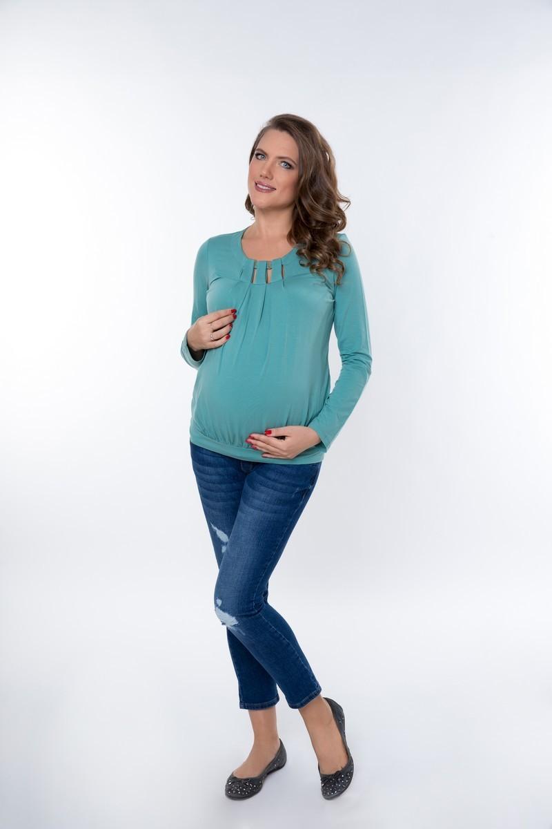 Блузка для беременных 01822 ментоловый