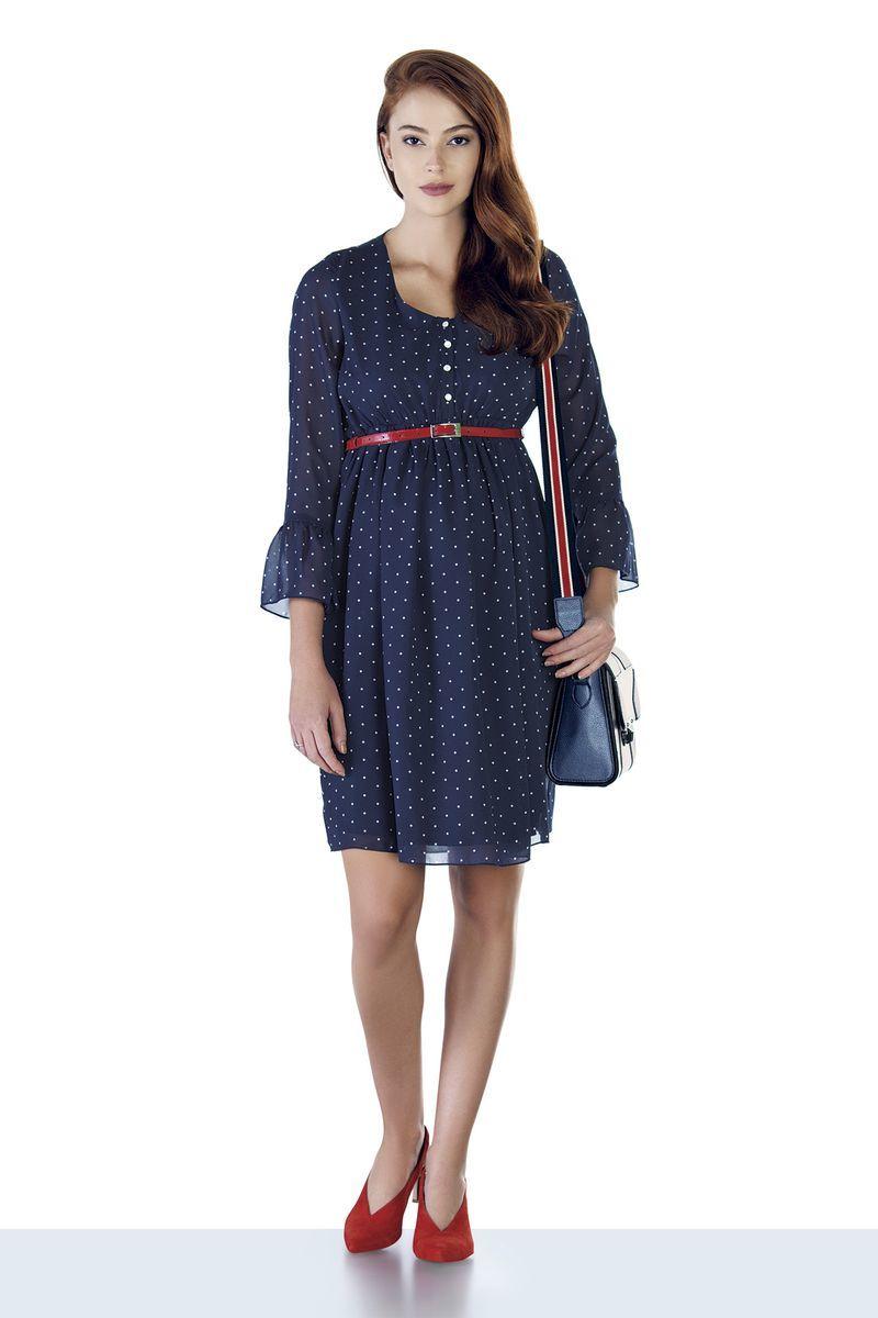 Платье для беременных 08939 синий