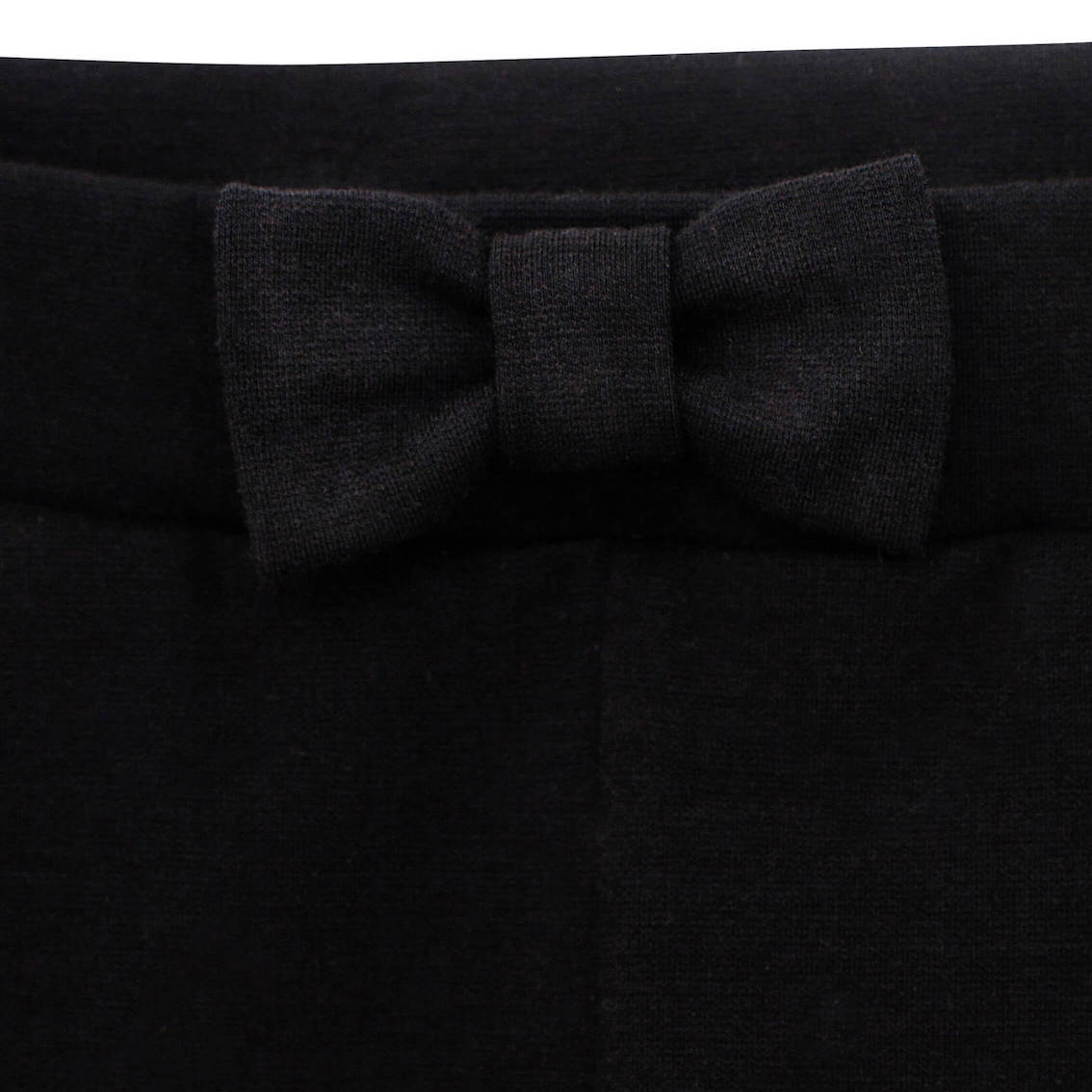 Черные трикотажные брюки с бантиком