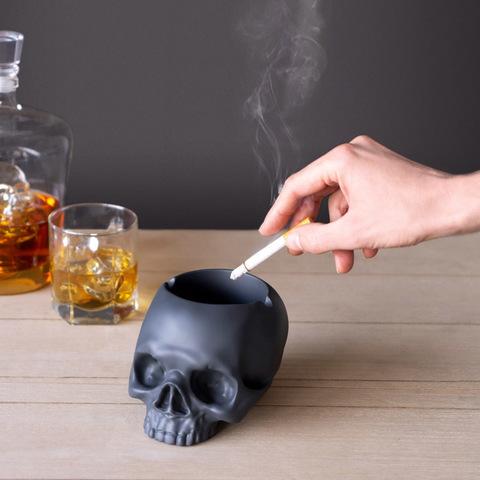 Пепельница Skully серая