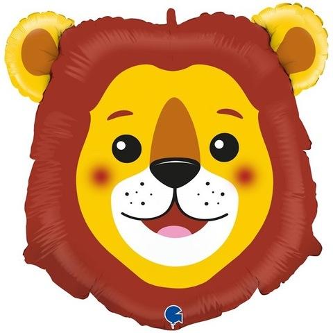 Воздушный шар фигура Голова Льва, 74 см