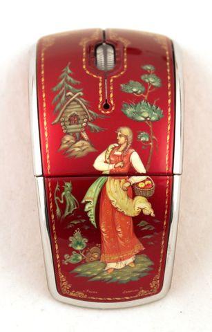 Мышь компьютерная с ручной росписью 1418