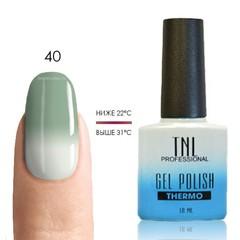 TNL, Термо гель-лак № 40 - серо-зеленый/белый, 10 мл
