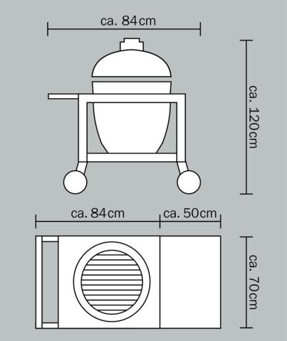 Тележка для газона Monolith Le Chef