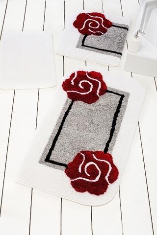 Комплект ковриков для ванной и туалета DOLCE, серый