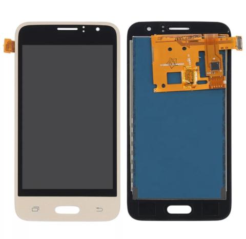 LCD SAMSUNG J1 (2016) J120 + Touch Gold Orig MOQ:5