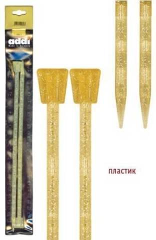 Спицы для вязания Addi прямые 35 см, 7 мм