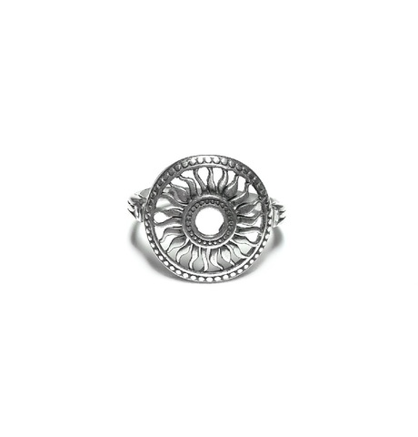 Sun Ring, sterling silver