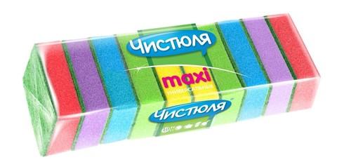 Губка д/посуды Чистюля Maxi 10шт 9,6х6,4х2,7см