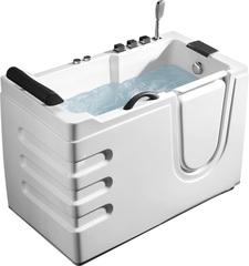 Акриловая ванна ABBER AB9000 B R 130х70 см с дверцей и гидромассажем