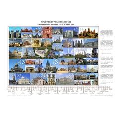 Архитектурный полигон настенный плакат