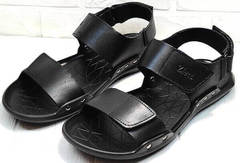 Черные сандали босоножки летние мужские Zlett 7083 Black.