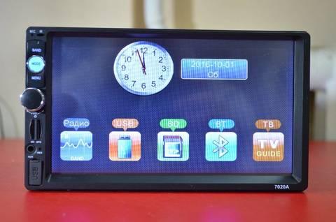 7 дюймов 2DIN мультимедийный центр магнитола Радио, музыка, видео, флешка. USB Bluetooth Aux Micro-SD