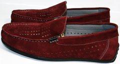 Модные мокасины мужские летние IKOC 1555-3 Red.