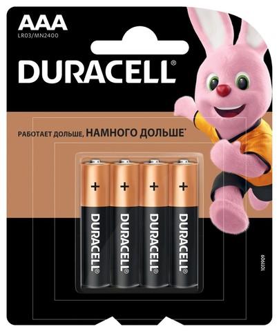 Элемент питания DURACELL LR03-BL4