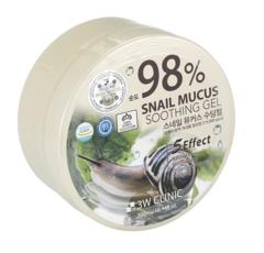3W Clinic Универсальный гель с улиточным муцином 98% Snail Mucus Soothing Gel 300 мл.