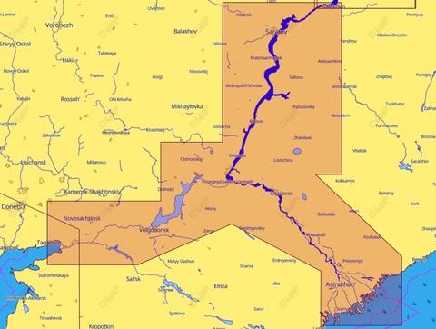 Карта C-MAP Волга. Балаково-Астрахань-Ростов