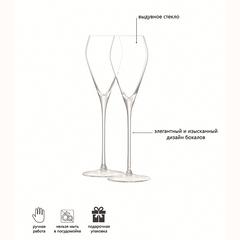 Набор из 2 бокалов для просекко Wine 250 мл, фото 6