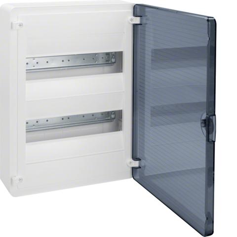 Щит открытой установки, 24М, с прозрачной дверцей