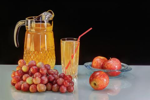 Сок яблочно-виноградный восстановленный - стекло