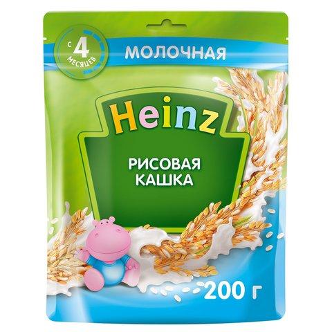 Каша Heinz молочная рисовая с Омега 3, 4+ мес