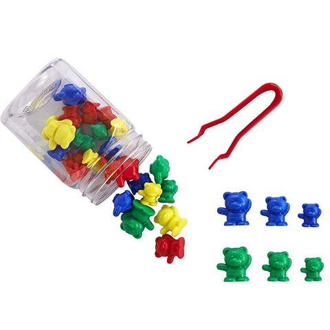 Развивающая игрушка фигурки Мишки с рюкзаками (счетный материал, 61 элемент) Edx education, арт. 13102J