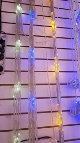 Дождь светодиодный домашний 1,5*1,5м 200LED хол/бел
