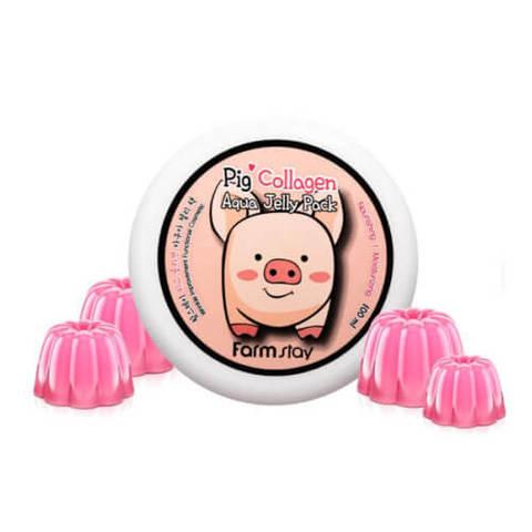 FarmStay Collagen Aqua Piggy Jelly Pack ночная увлажняющая маска-желе со свиным коллагеном
