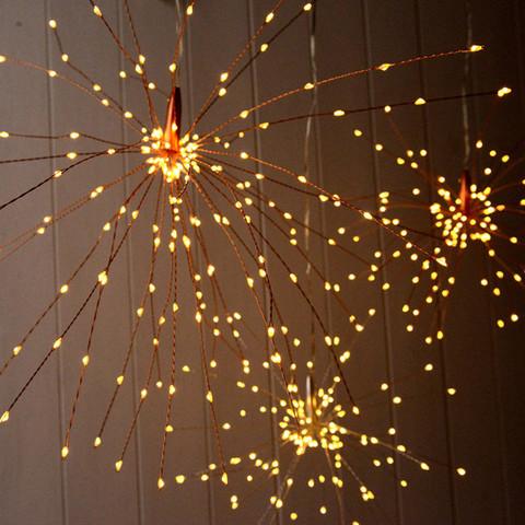 Гирлянда салют проволока LED светодиодная теплый белый
