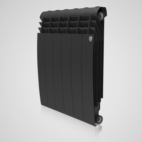 Радиатор биметаллический Royal Thermo Biliner Noir Sable 350 (черный)  - 8 секций