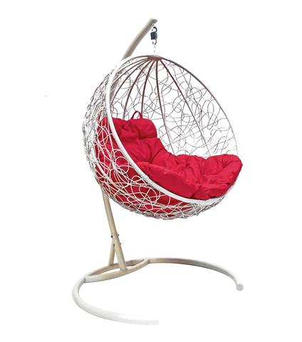 Кресло подвесное Milagro white/crimson