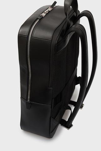 Мужской черный кожаный рюкзак BUSINESS LEATHER Tommy Hilfiger