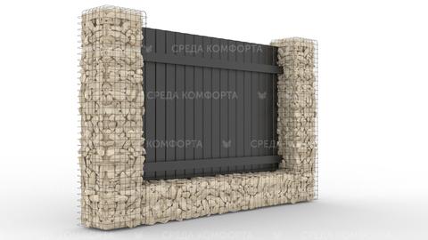 Забор из профлиста 2500х2000 мм ZBR0030 (ворота)