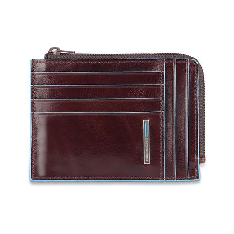 Чехол для кредитных карт Piquadro Blue Square, коричневый, 12,5x9x1 см