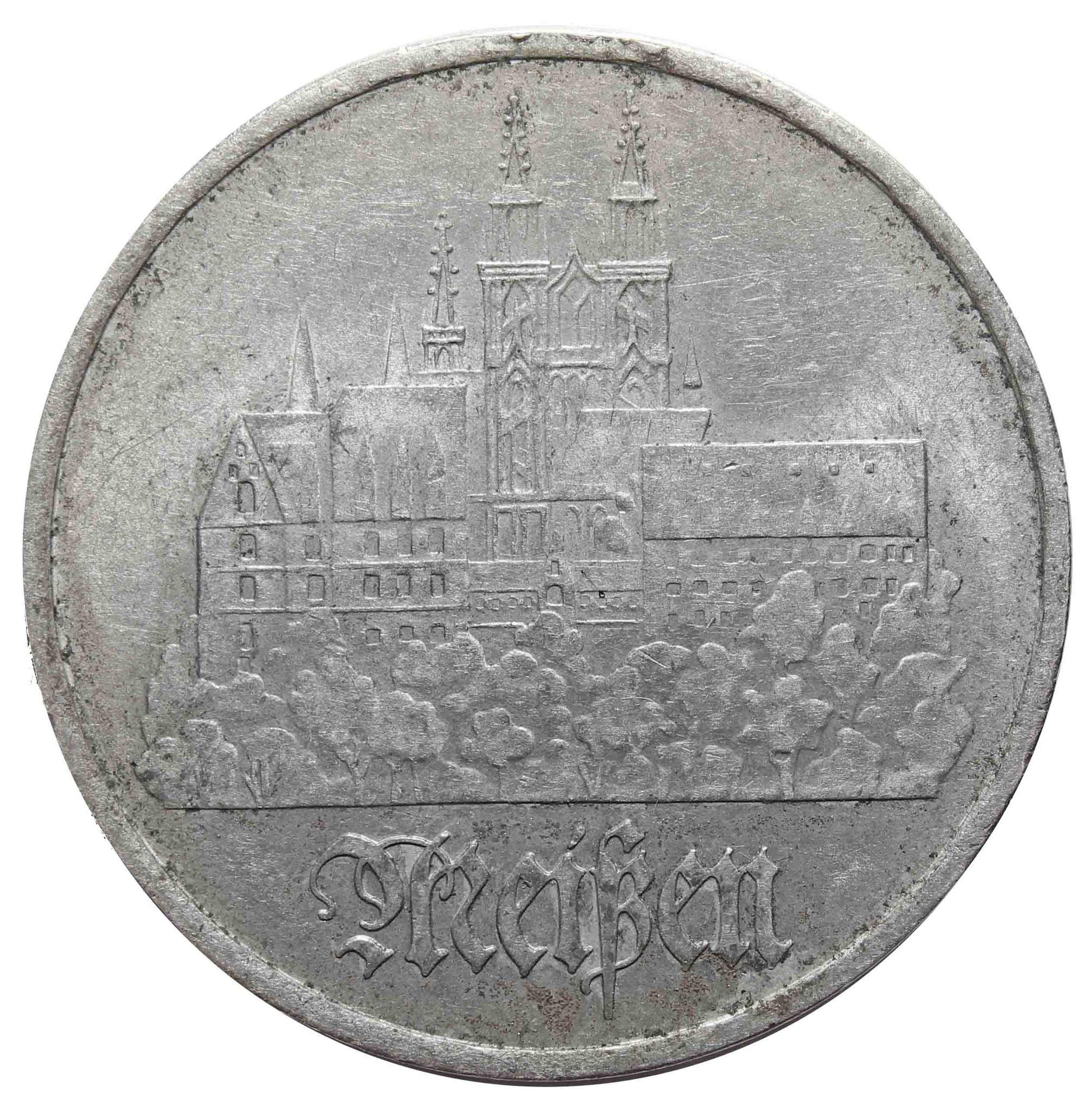 5 марок. Город Мейсен. (A). Германия-ГДР. Медноникель. 1972 год. VF